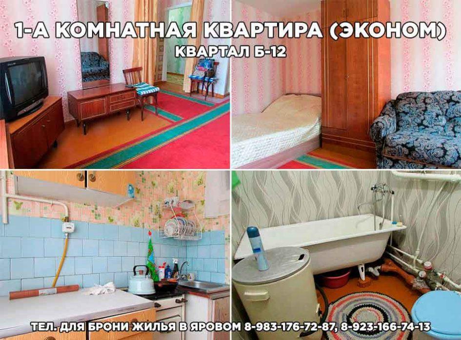 1-а комнатная квартира (эконом) в Яровом